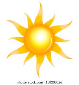Illustration of shiny sun