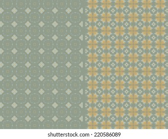 Illustration with a simple background pattern, pastel colors.