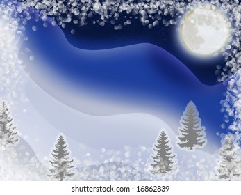 an illustration of the snow