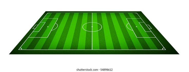 Illustration of a soccer field. (Original style)