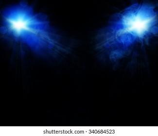 illustration of spot light with smoke