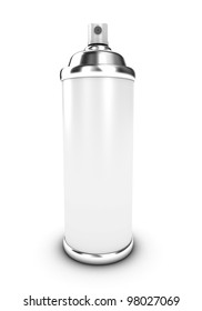 Illustration of a spraycan with a paint on a white background