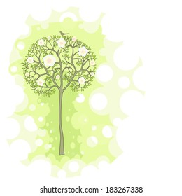 Illustration of spring tree