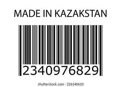 An Illustration of stamp marked Made in Kazakstan