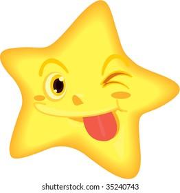 illustration of star on white