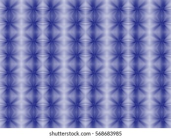 Illustration of starry seamless tile in blue and white.