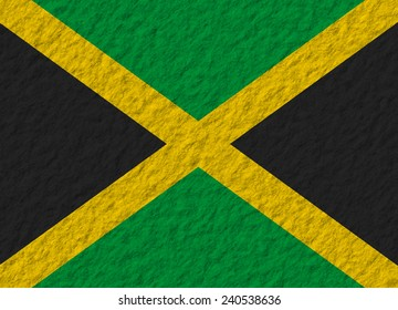 illustration of a stone flag of Jamaica