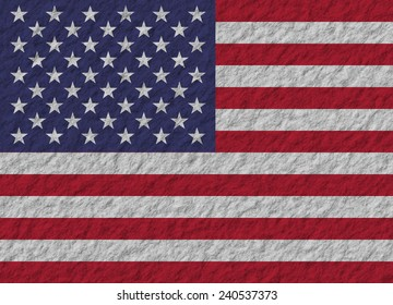 illustration of a stone flag of United States