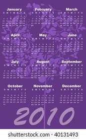 Illustration of style design Calendar for 2010