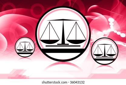 Illustration of a symbol of simple balance