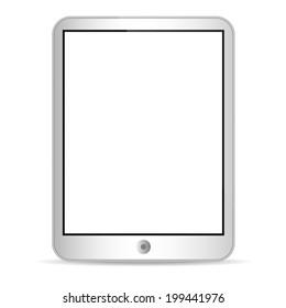 Illustration of tablet on white