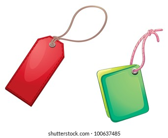 illustration of tags on a white background - EPS VECTOR format also available in my portfolio.