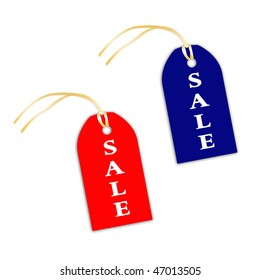 Illustration of tallies with inscription sale on a white background