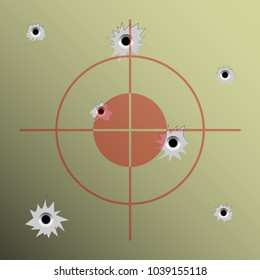 Illustration of target shooting as a background