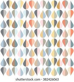 Illustration of tear drop shapes in various color tones./Tear Drops Pattern