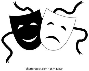 Illustration of Theatrical masks