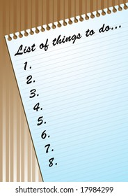 Illustration of to-do list on a blank page