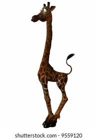 Illustration of an Toon  Giraffe