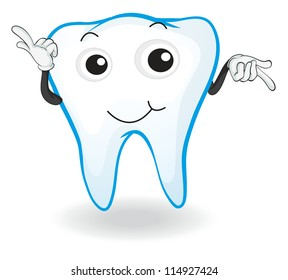 illustration of tooth on a white background
