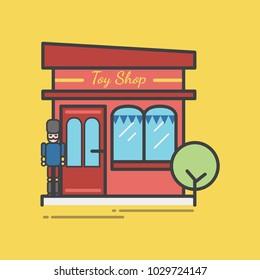 Illustration of toy store set