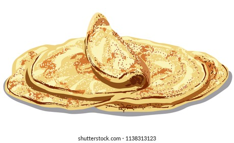 illustration of traditional eastern baked pita bread