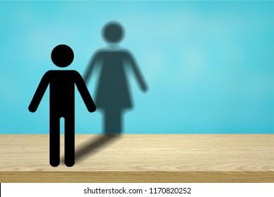 Illustration transgender concept