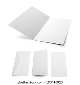 Illustration of two Invitation cards mock up and envelope on white background
