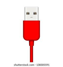 Illustration of usb plug