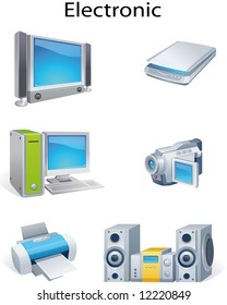 Illustration of various electronic object