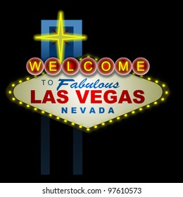 Illustration of the Vegas sign at night.