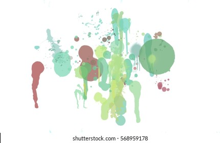 illustration of watercolor splash background