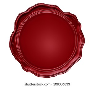 Illustration of the wax seal with blank field isolated on white