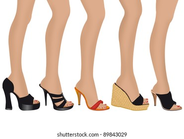 illustration of women's shoes