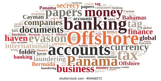 Illustration with word cloud on Offshore Companies.