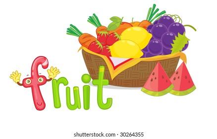 illustration for the word fruit