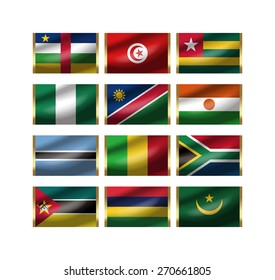Illustration of the world national flag./ The illustration of the national flag can be synthesized to the illustration of the key ring.