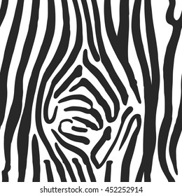 Illustration of Zebra Print Seamless Pattern. Wild texture for Design, Website, Background, Banner. Zebra Template. Nature Wallpaper