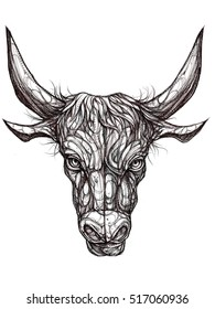 Illustration of the zodiac Taurus