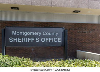 Illustrative editorial image of the sign outside the Montgomery County Sheriff's Office in Montgomery, Alabama.