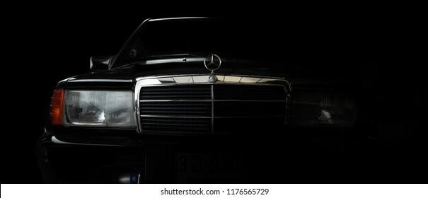 illustrative editorial Mercedes Benz 190E in Bangkok Thailand. 10 September 2018