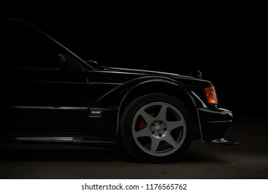 illustrative editorial Mercedes Benz 190E in Bangkok Thailand. 10 September 2018