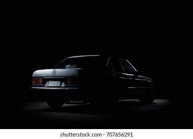 illustrative editorial Mercedes Benz 190E in Bangkok Thailand. 2 September 2017