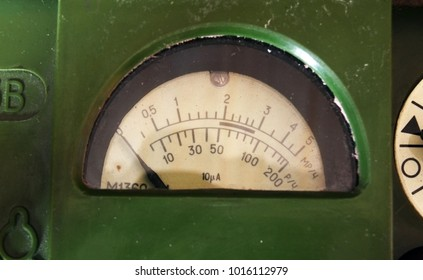 ILLUSTRATIVE EDITORIAL. Soviet vintage military geiger counter DP-5V .  1960-70s. Cold War time. Kiev,Ukraine.February 1, 2018