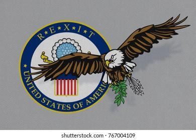 Illustrative representation of US Secretary of State, Rex Tillerson, leaving US Administration.