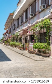 Ilocos Sur, Philippines - March 11, 2017 - Old Colonial Houses in the street of Vigan - a UNESCO heritage site.