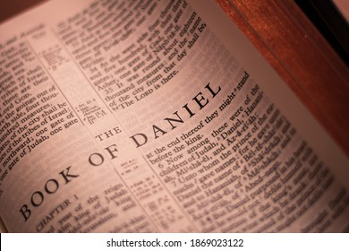 Iloilo City, Philippines - October 29 2020: The Book of Daniel of the Holy Bible Old Testament