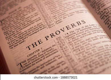 Iloilo City, Philippines - October 29 2020: The Book of The Proverbs of the Holy Bible Old Testament