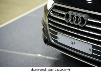 Ilsan, Gyeonggi-do, South Korea - October 5, 2019 : AUDI Q7 Displayed at Seoul Auto Salon Week 2019
