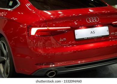 Ilsan, Gyeonggi-do, South Korea - October 5, 2019 : AUDI A5 Displayed at Seoul Auto Salon Week 2019
