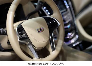 Ilsan, Gyeonggi-do, South Korea - October 5, 2019 : Cadillac Escalade Displayed at Seoul Auto Salon Week 2019